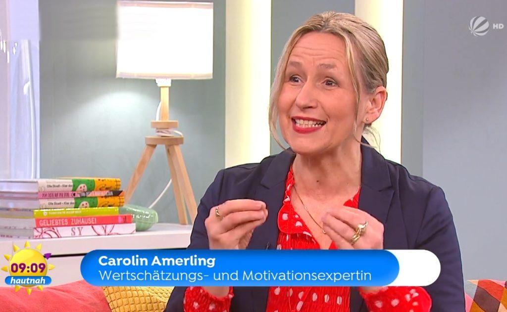 Wertschätzungsexpertin Carolin Amerling beim SAT 1 Frühstücksfernsehen